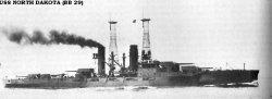 """Броненосный крейсер """"Северная Дакота"""" BB29"""