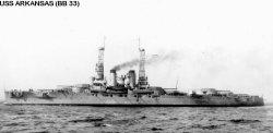 """Броненосный крейсер """"Арканзас"""" BB33"""