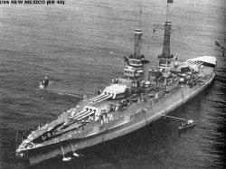 """Броненосный крейсер """"Нью-Мехико"""" BB40"""