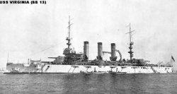 """Броненосный крейсер """"Вирджиния"""" BB13"""