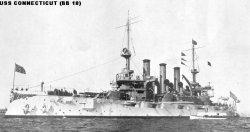 """Броненосный крейсер """"Коннектикут"""" BB18"""