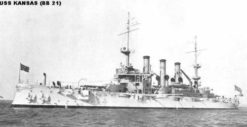 "Броненосный крейсер ""Канзас"" ВB21"