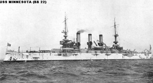 """Броненосный крейсер """"Миннесота"""" ВB22"""
